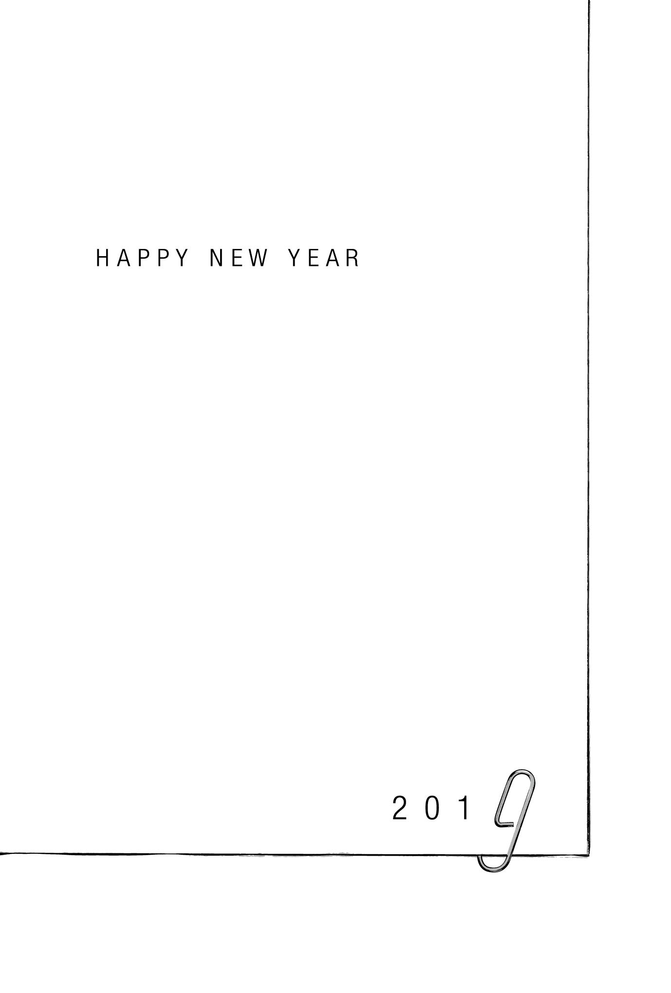 2019年賀状16-3:Cliped 2019 / 3のダウンロード画像