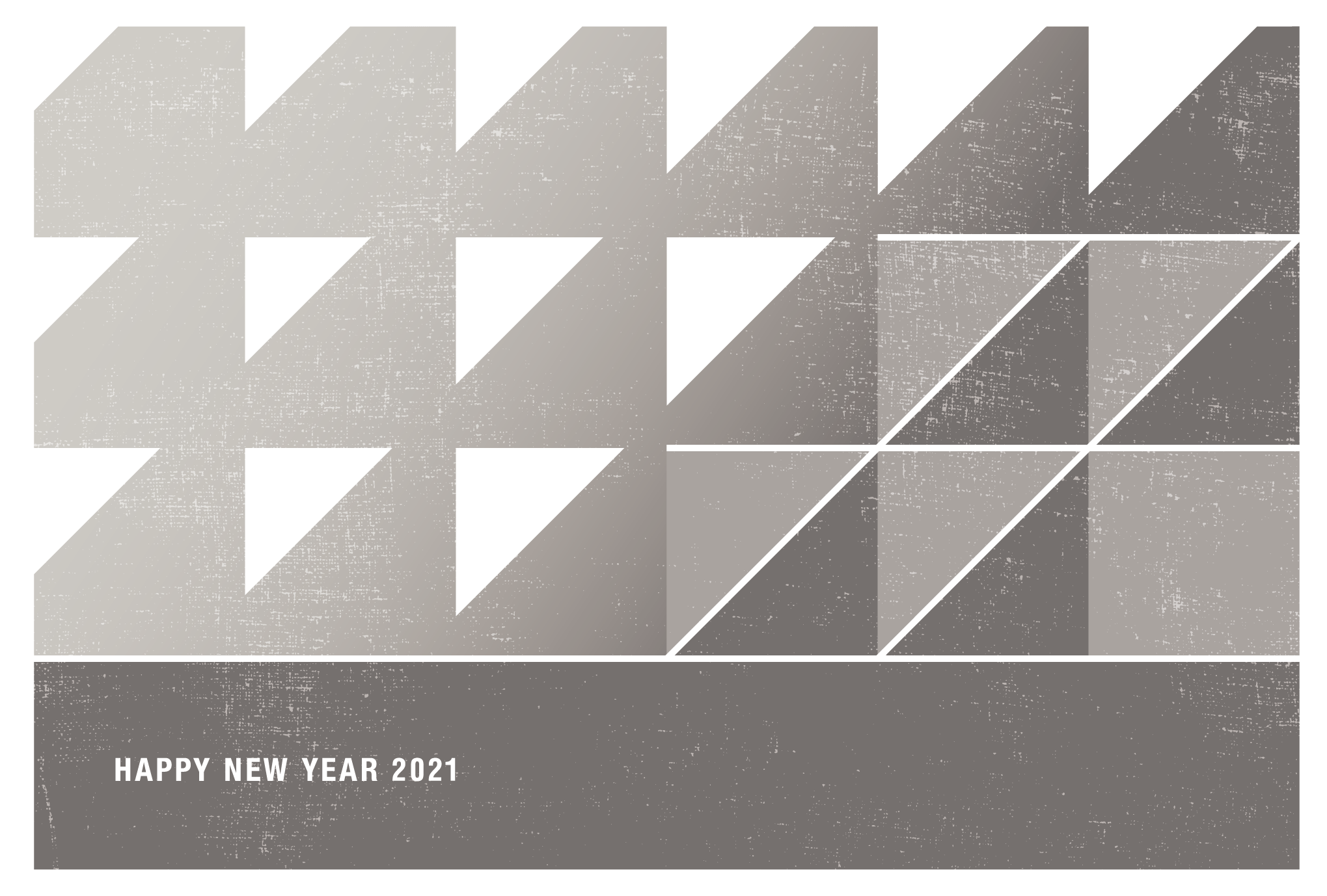 2021年賀状07-4:丑と鱗文様(薄鈍)横のダウンロード画像
