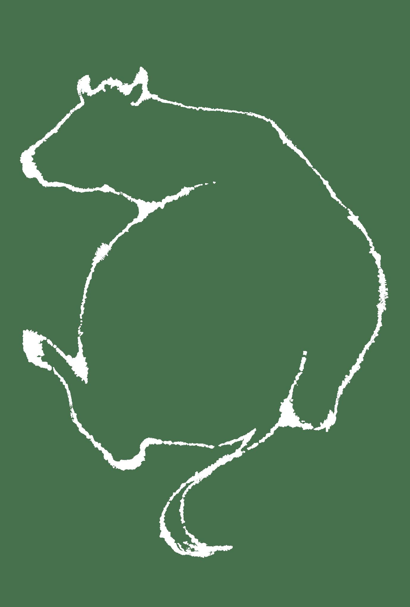 2021年賀状21-3:見返り牛(透過)のダウンロード画像