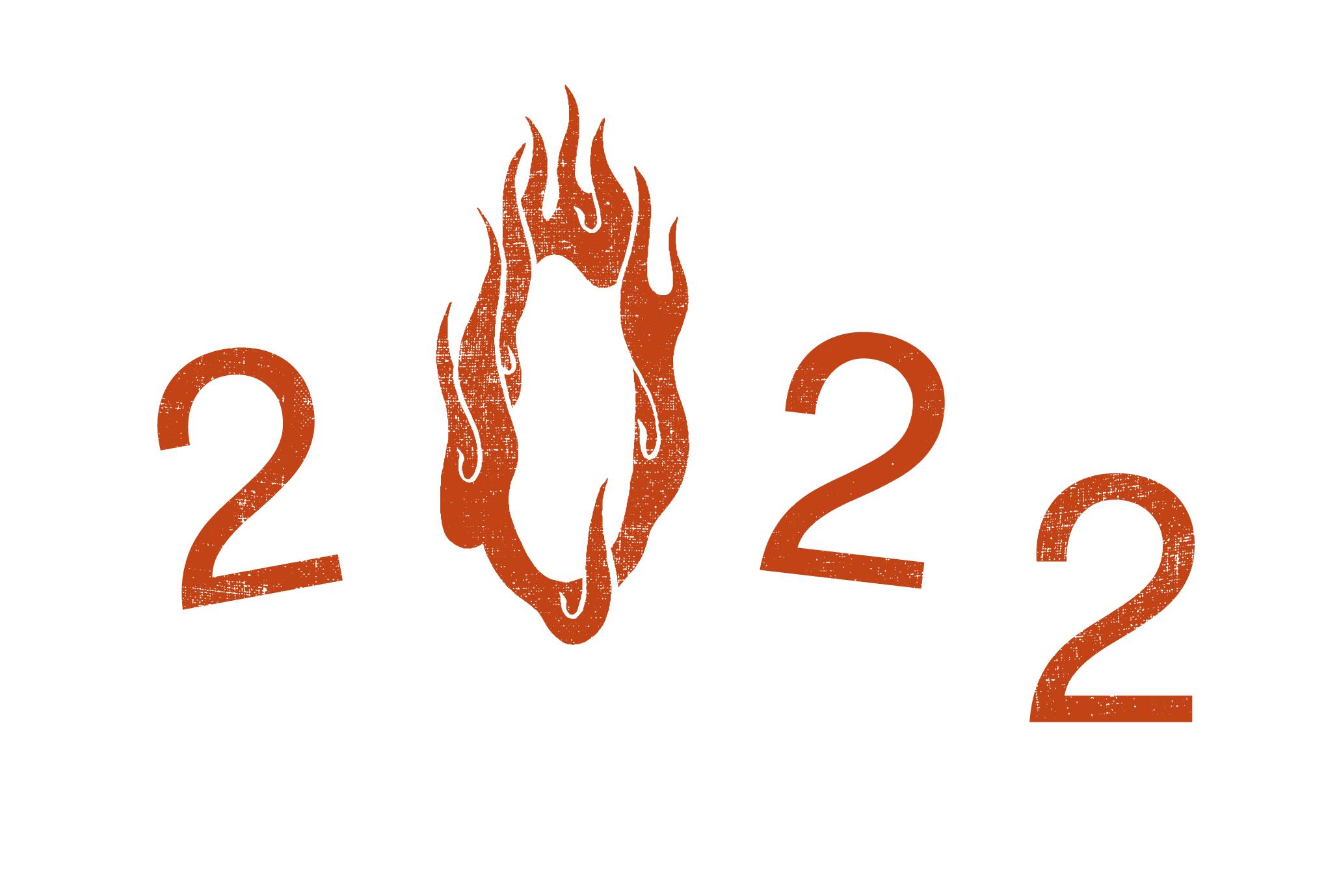 2022年賀状21-2:火の輪くぐり 2022(赤)のダウンロード画像