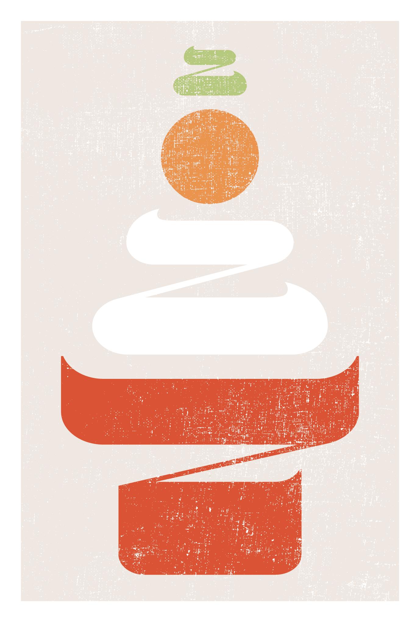 2022年賀状22-1:鏡餅 二〇二二(縦)Aのダウンロード画像