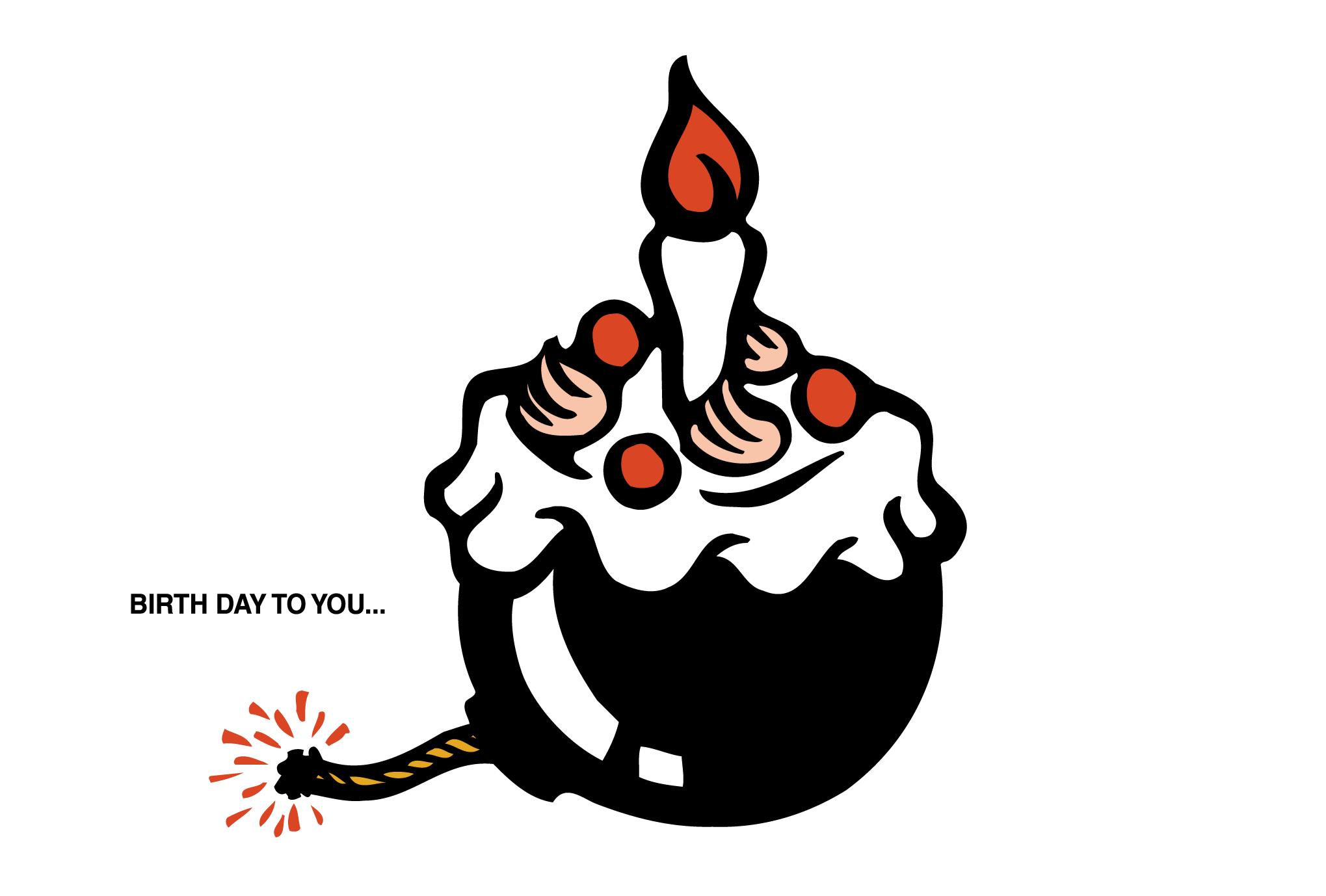 バースデーカード03:BIRTH DAY BOMBのダウンロード画像