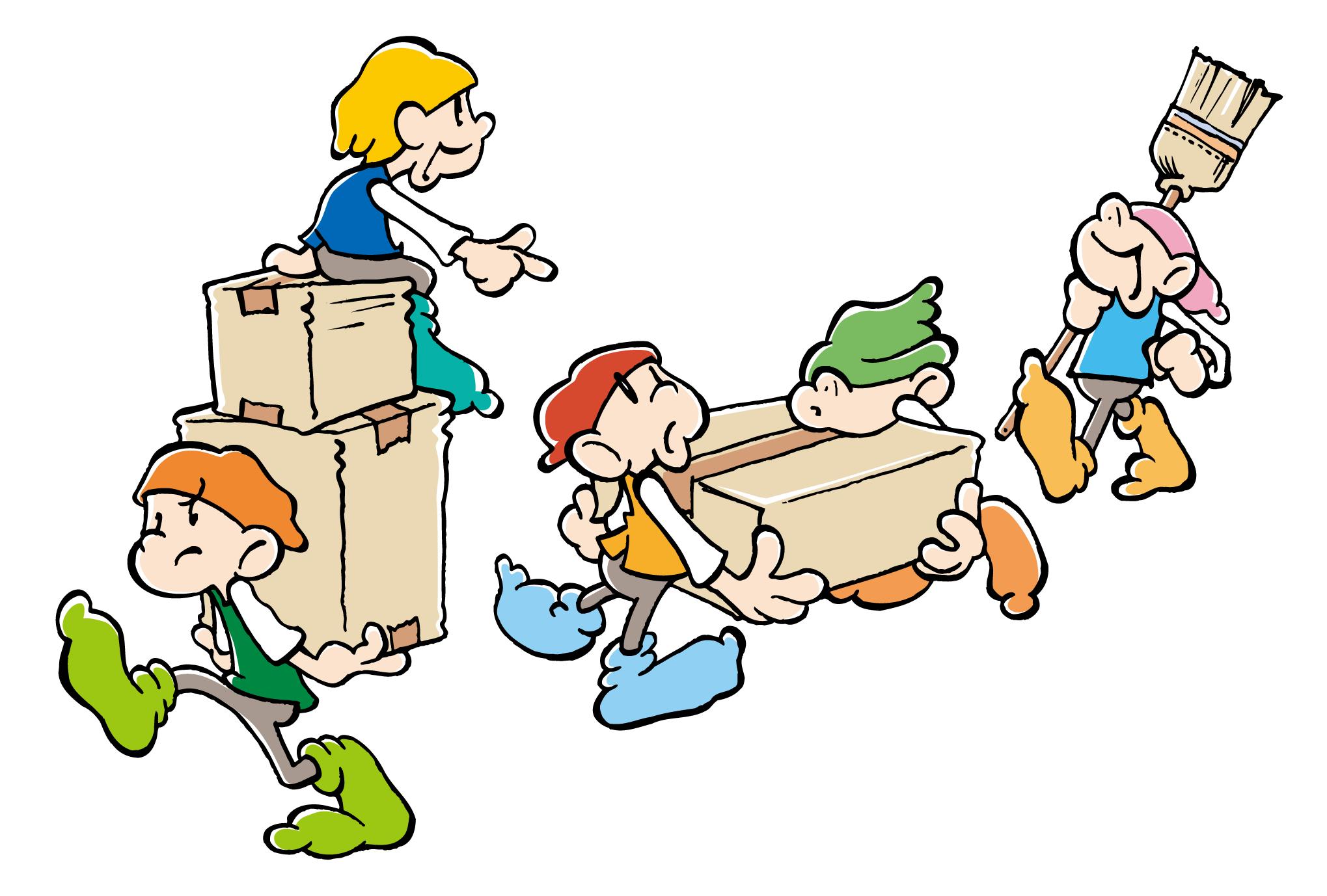 引越しハガキ07:引っ越し屋さんのダウンロード画像