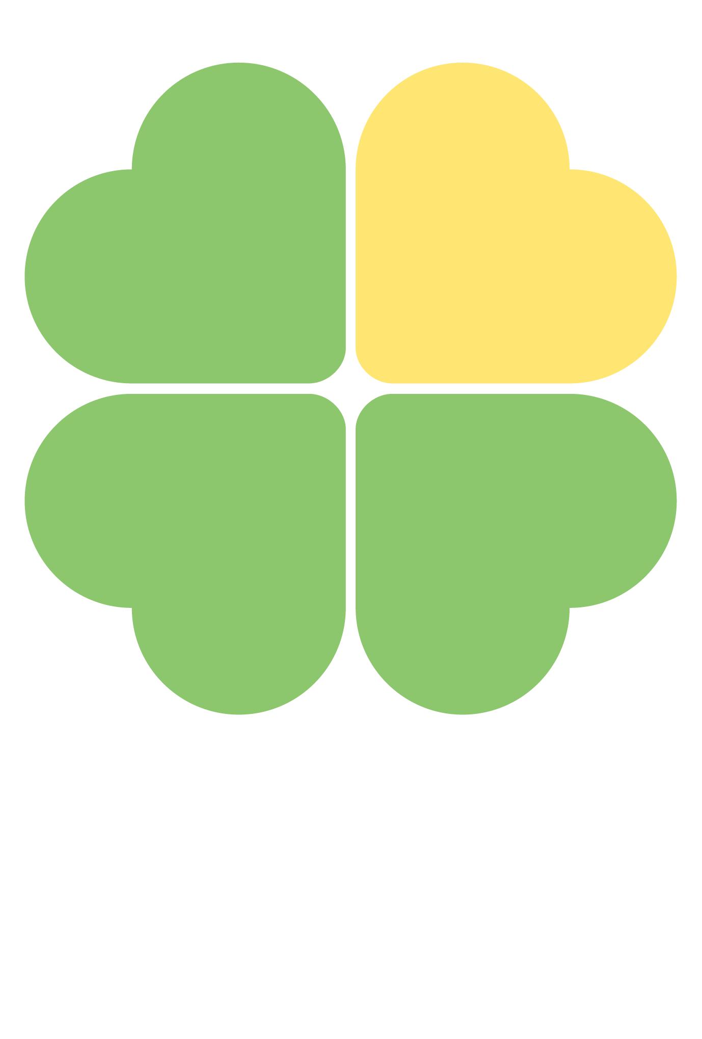 ポストカード05:Yellow heart cloverのダウンロード画像