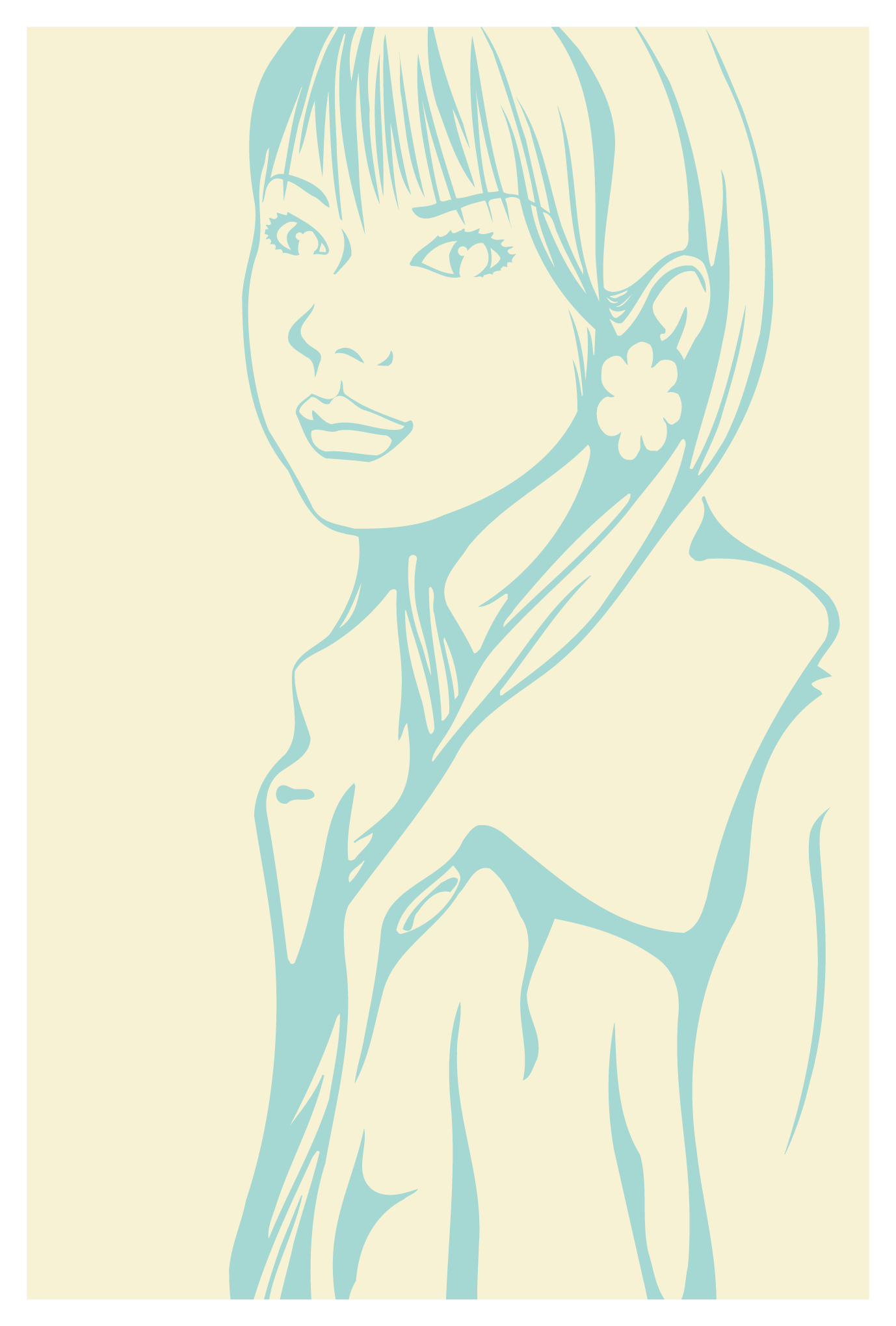 ポストカード19:Girl 7のダウンロード画像