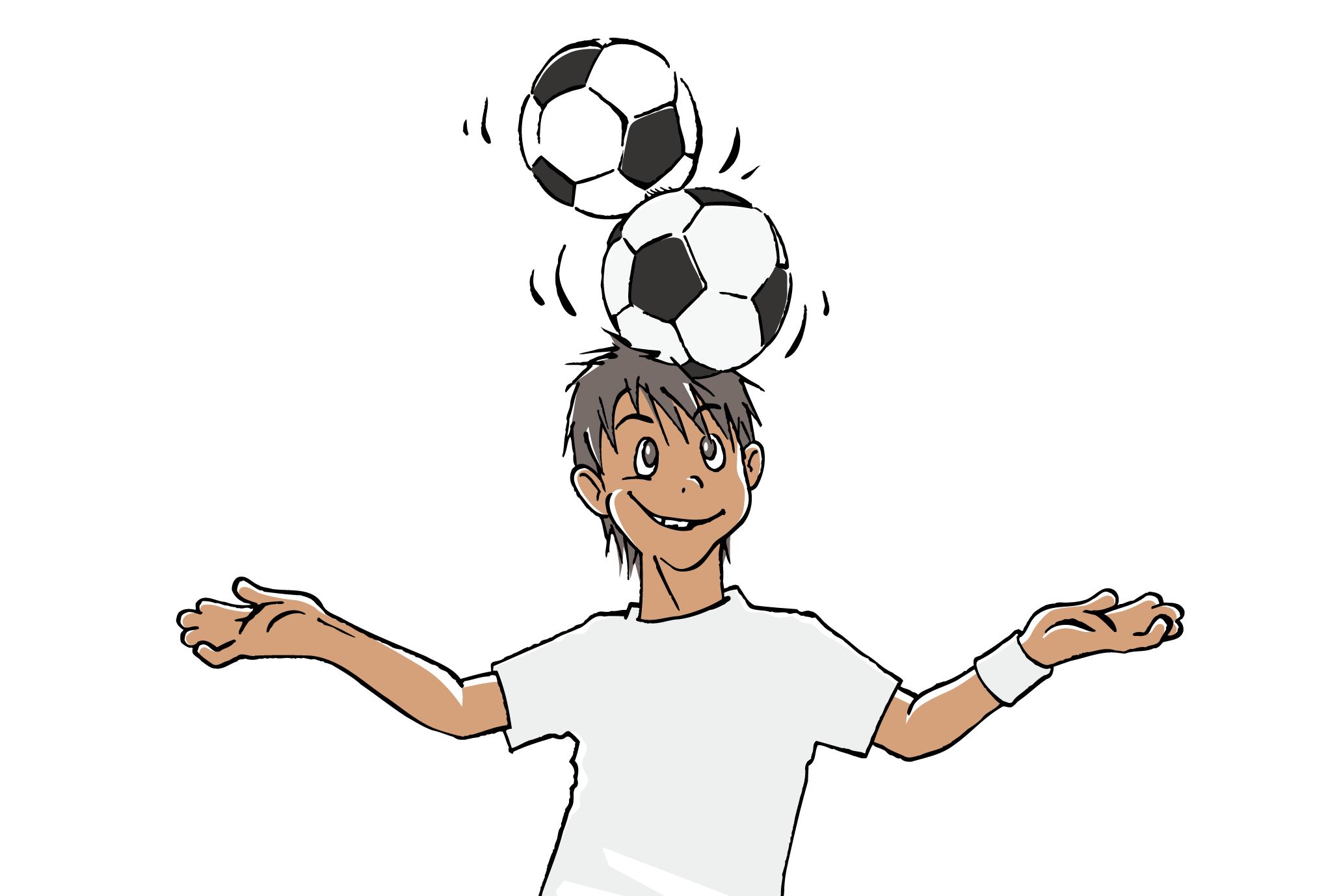 ポストカード27:サッカー少年のダウンロード画像