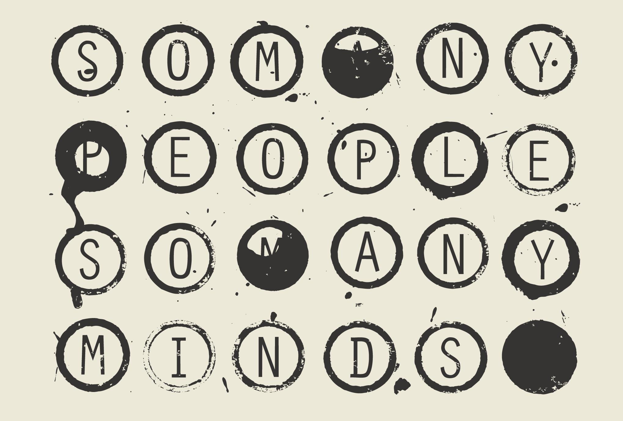 ポストカード36-2:So many people, So many minds / 灰白のダウンロード画像