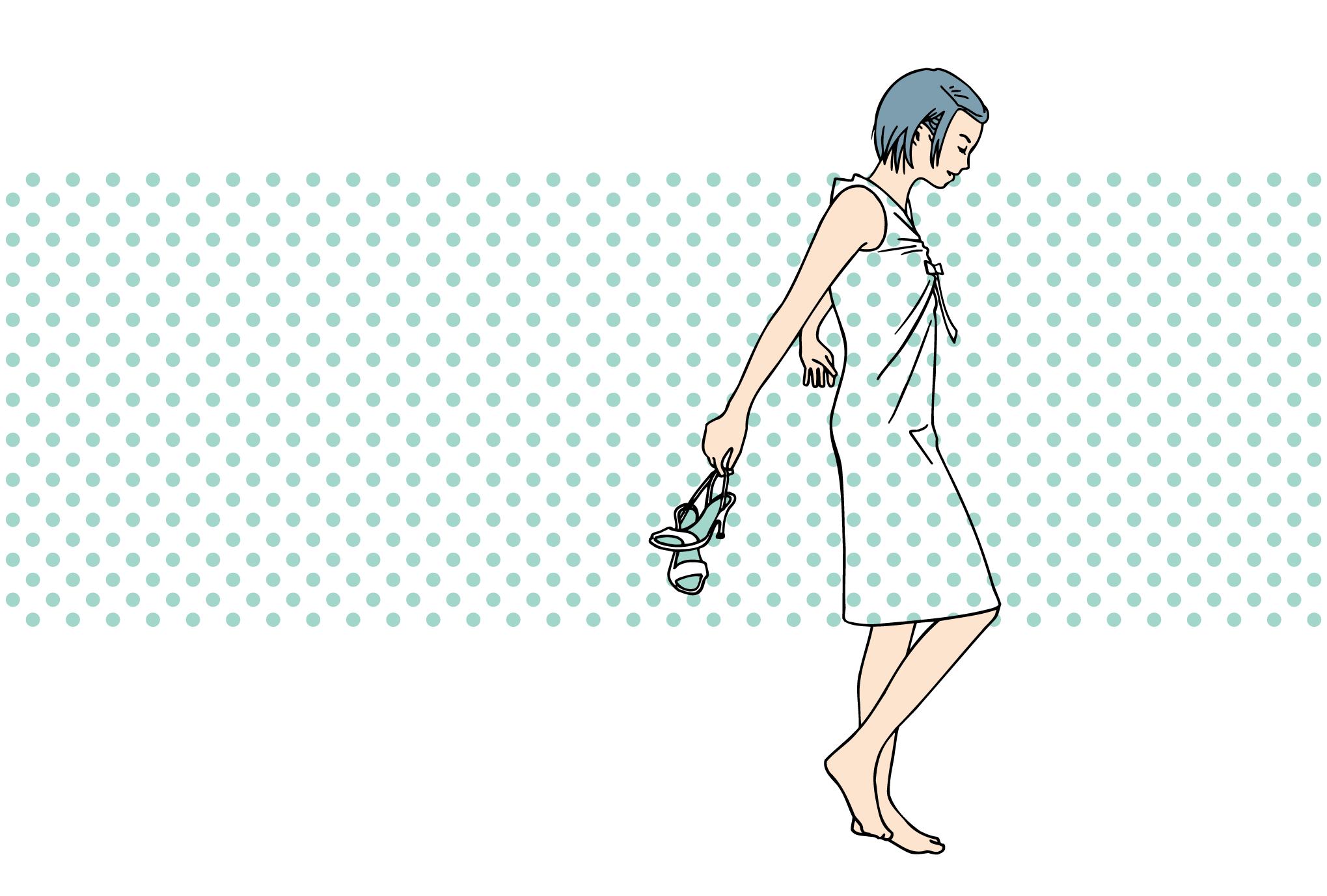 サマーカード10-1:Polkadot summer / Blueのダウンロード画像