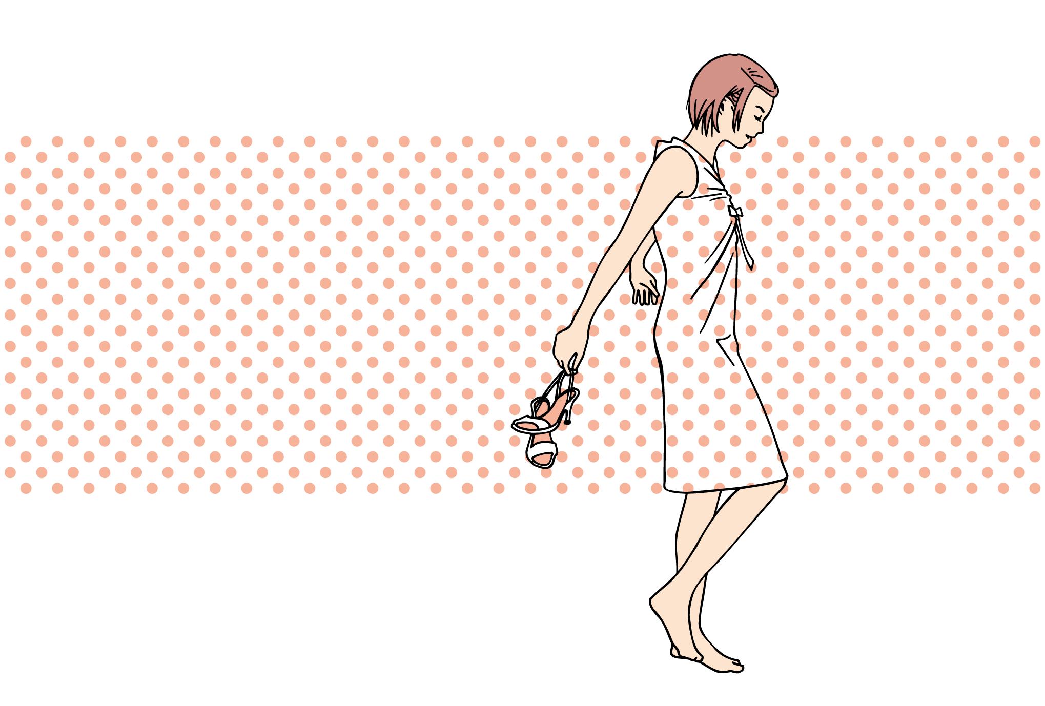サマーカード10-2:Polkadot summer / Pinkのダウンロード画像