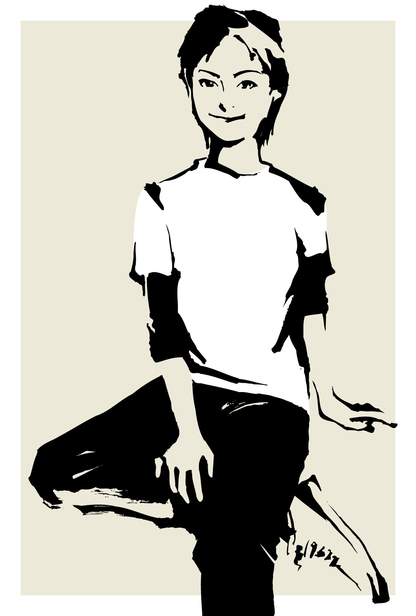 サマーカード32:短い髪の女の子のダウンロード画像
