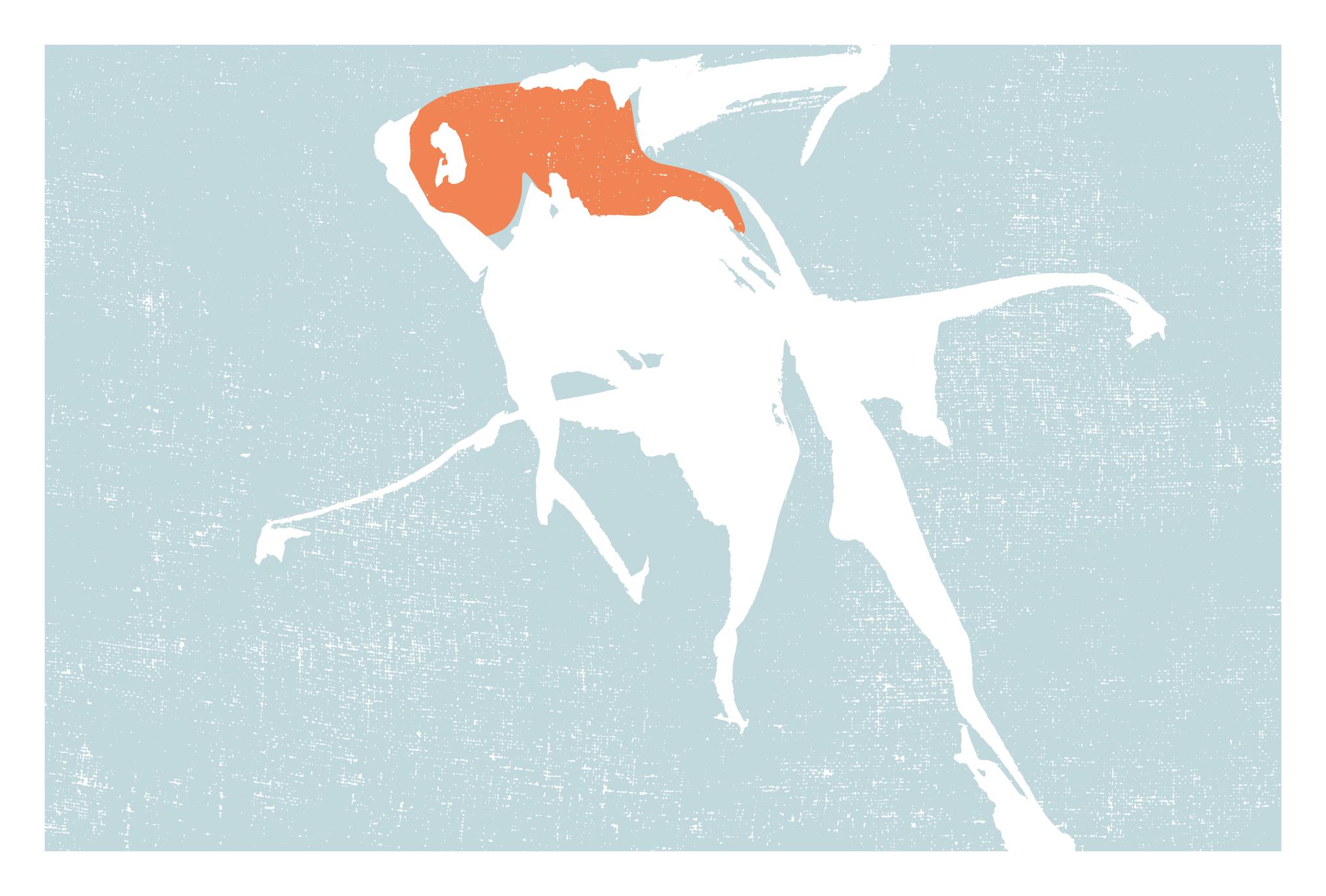 サマーカード47-1:金魚(更紗)横のダウンロード画像