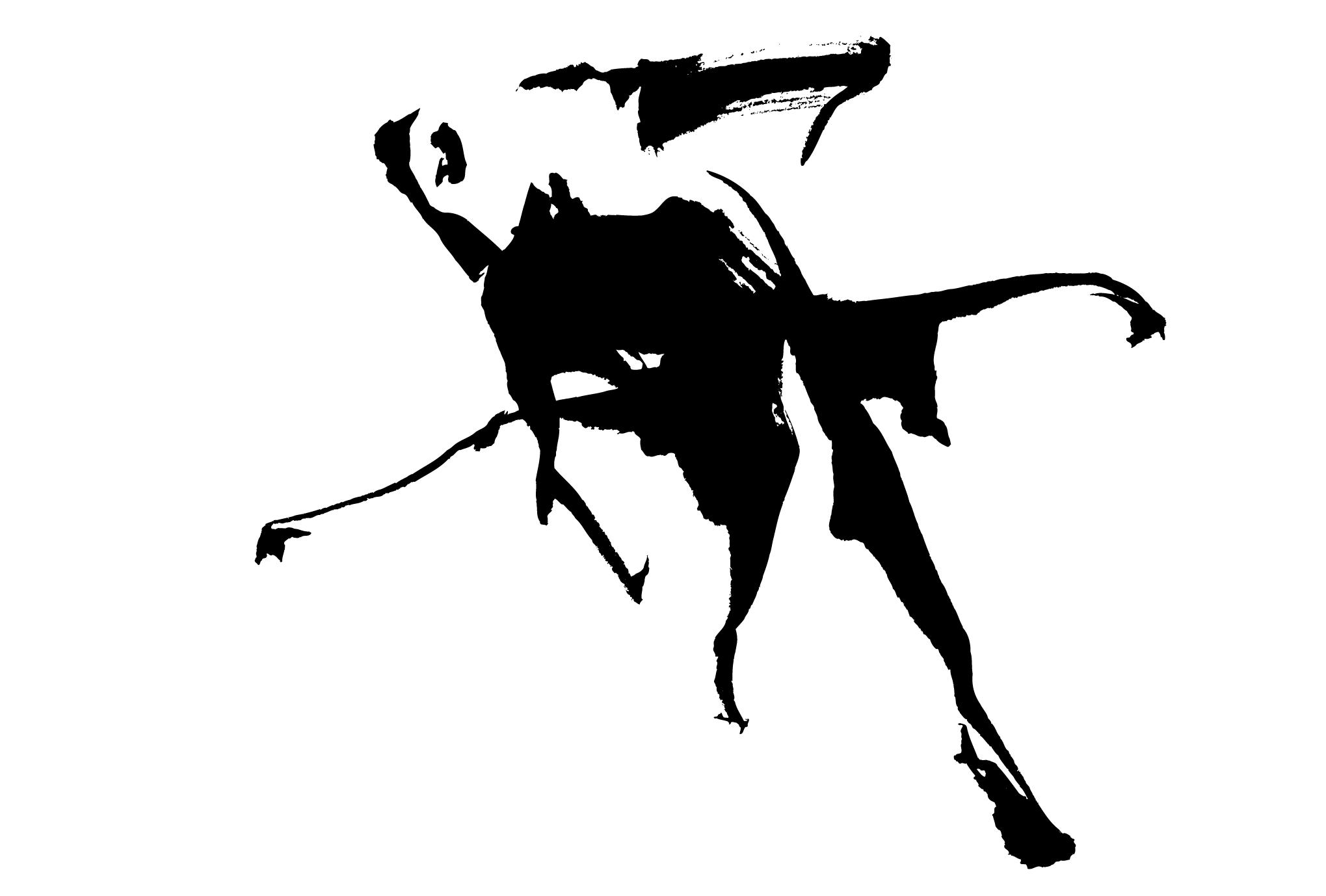 サマーカード47-2:金魚(黒)横のダウンロード画像