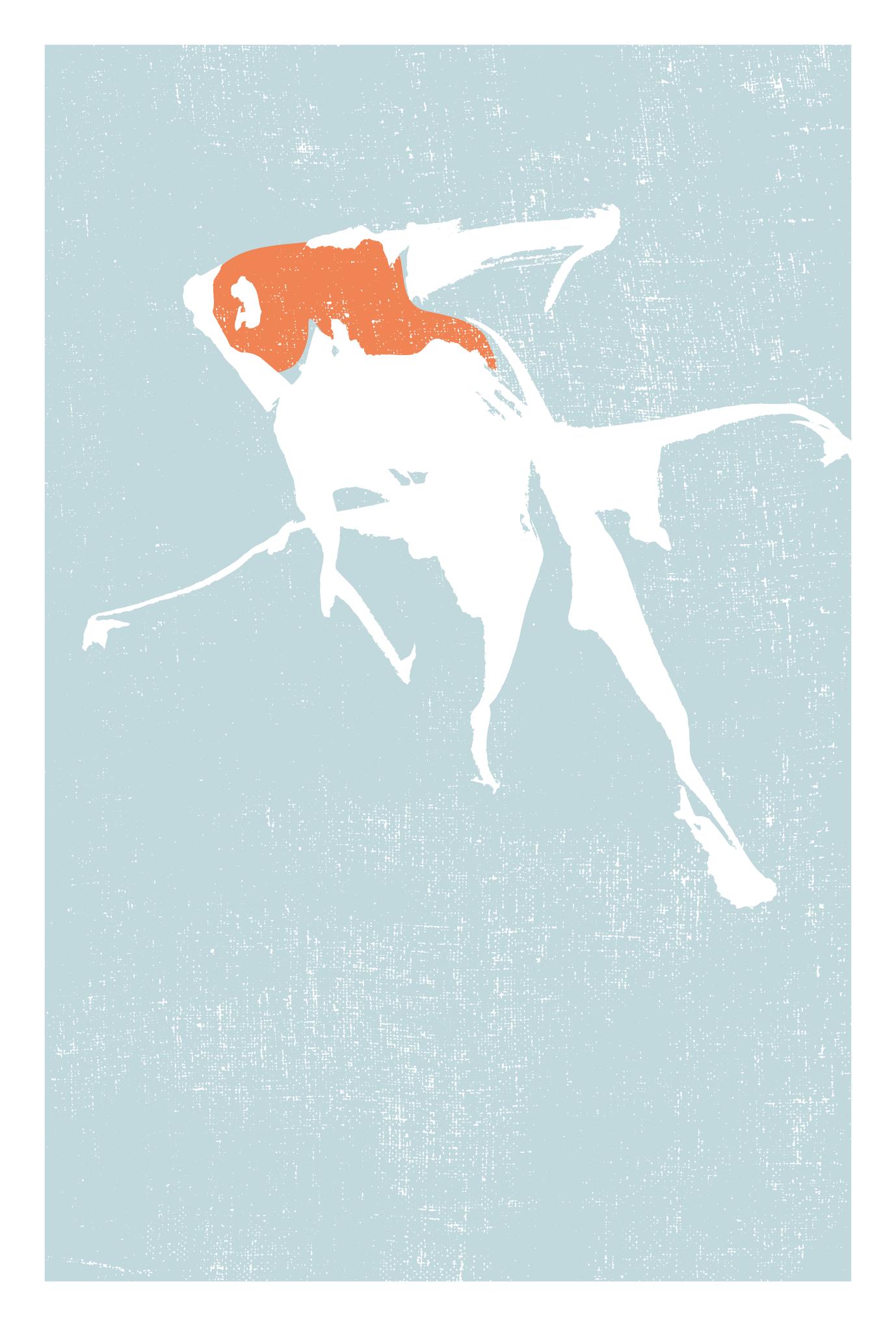サマーカード48-1:金魚(更紗)縦のダウンロード画像
