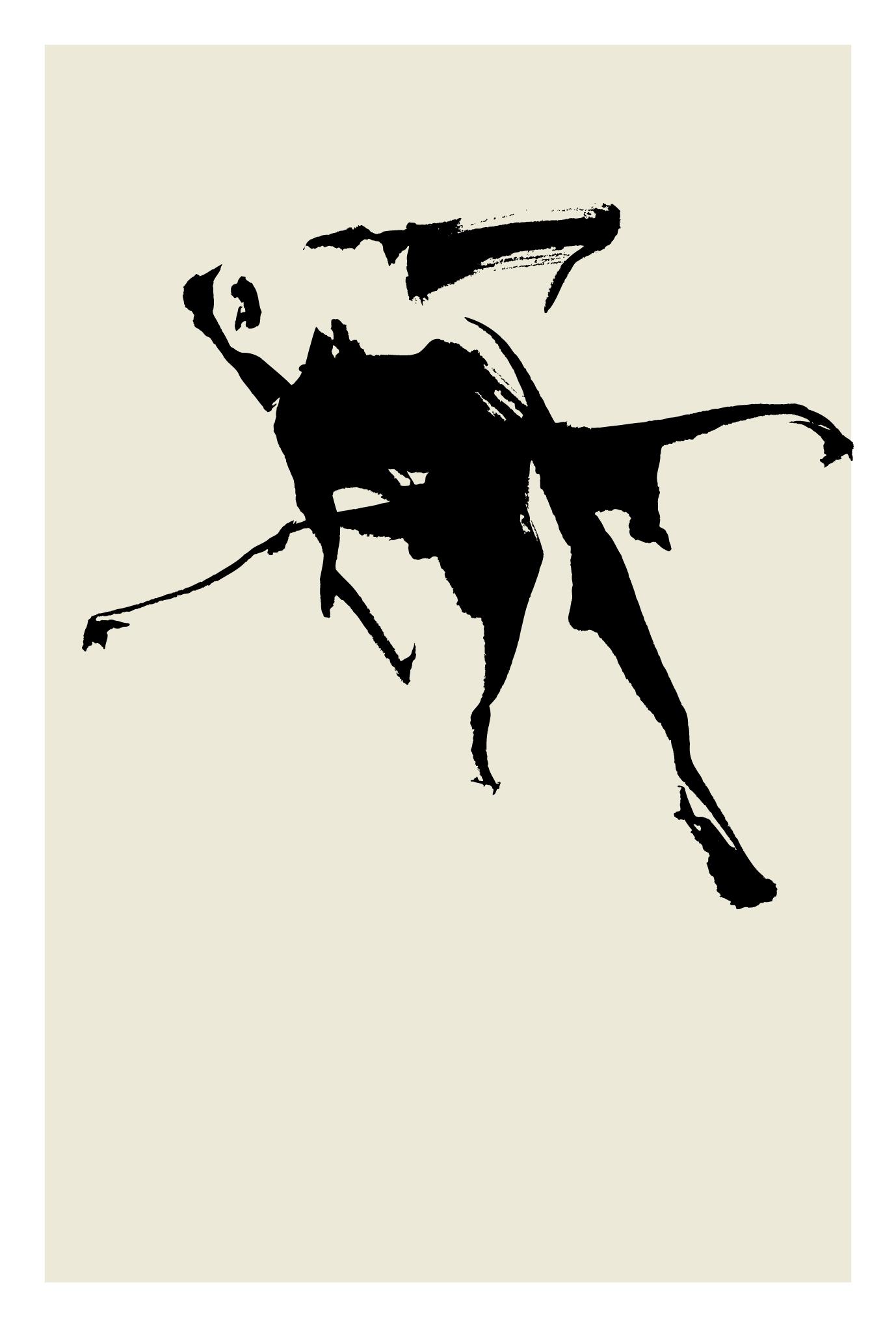 サマーカード48-2:金魚(黒)縦のダウンロード画像