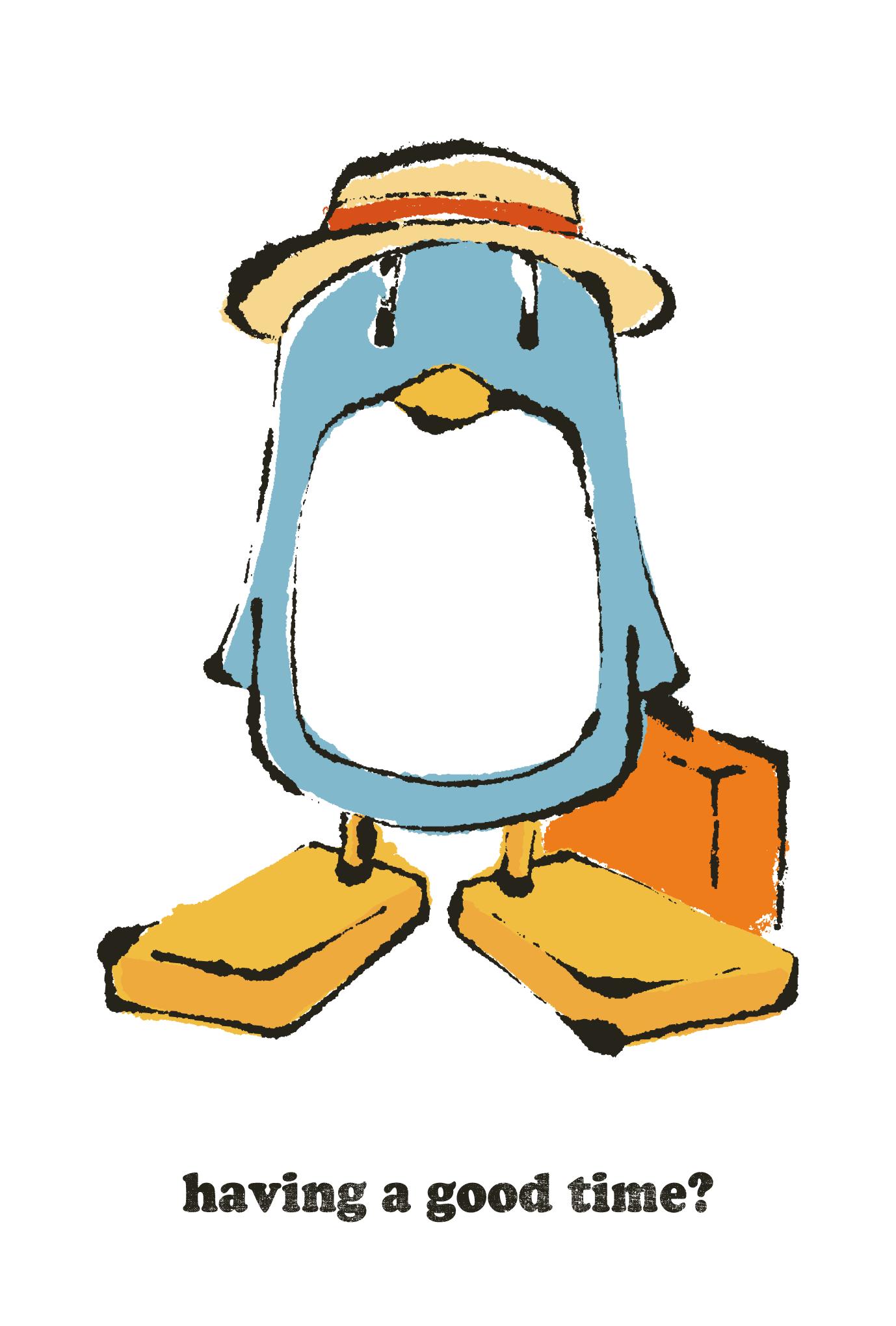 サマーカード58:The traveling penguinsのダウンロード画像