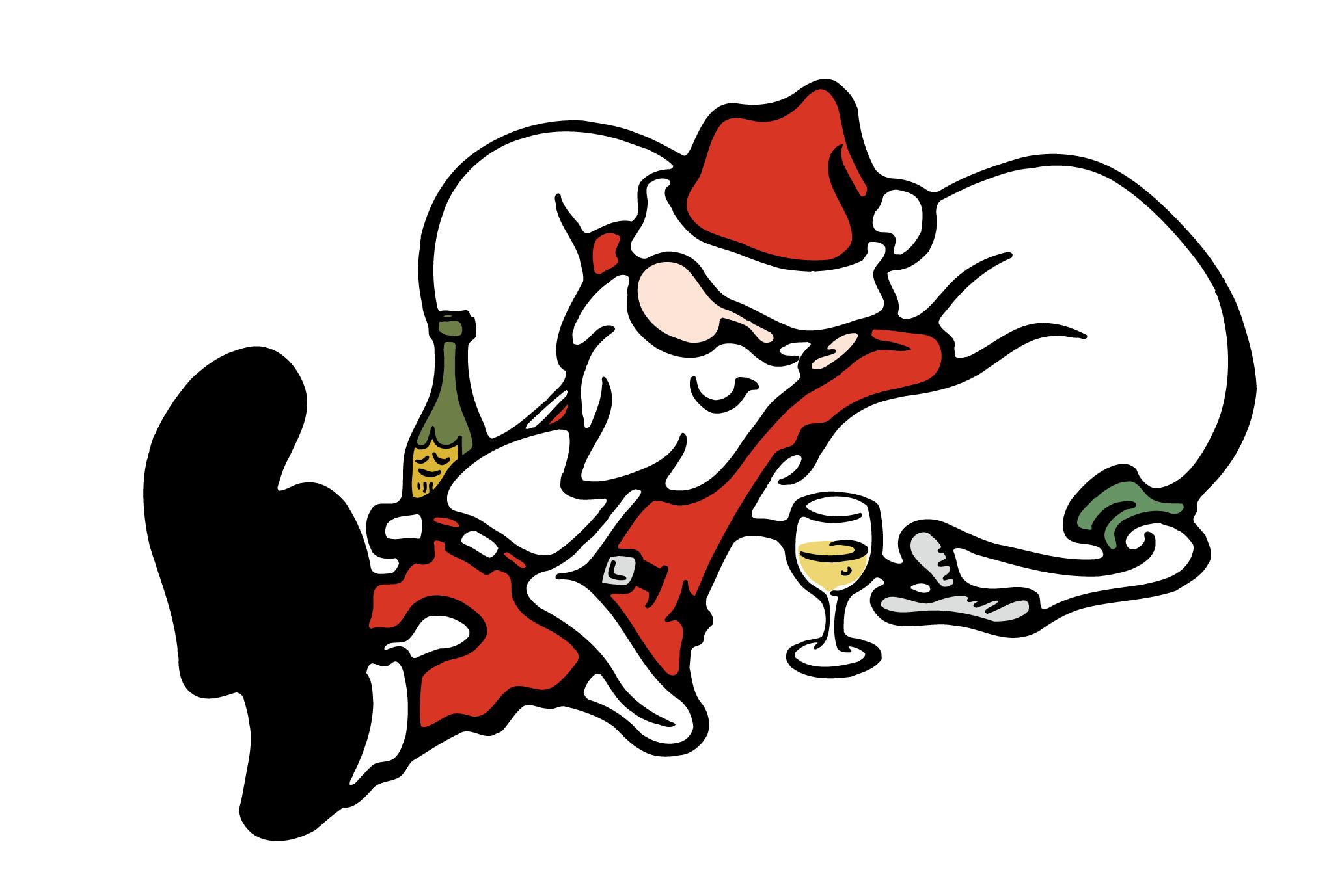 クリスマスカード02:酔いどれサンタのダウンロード画像