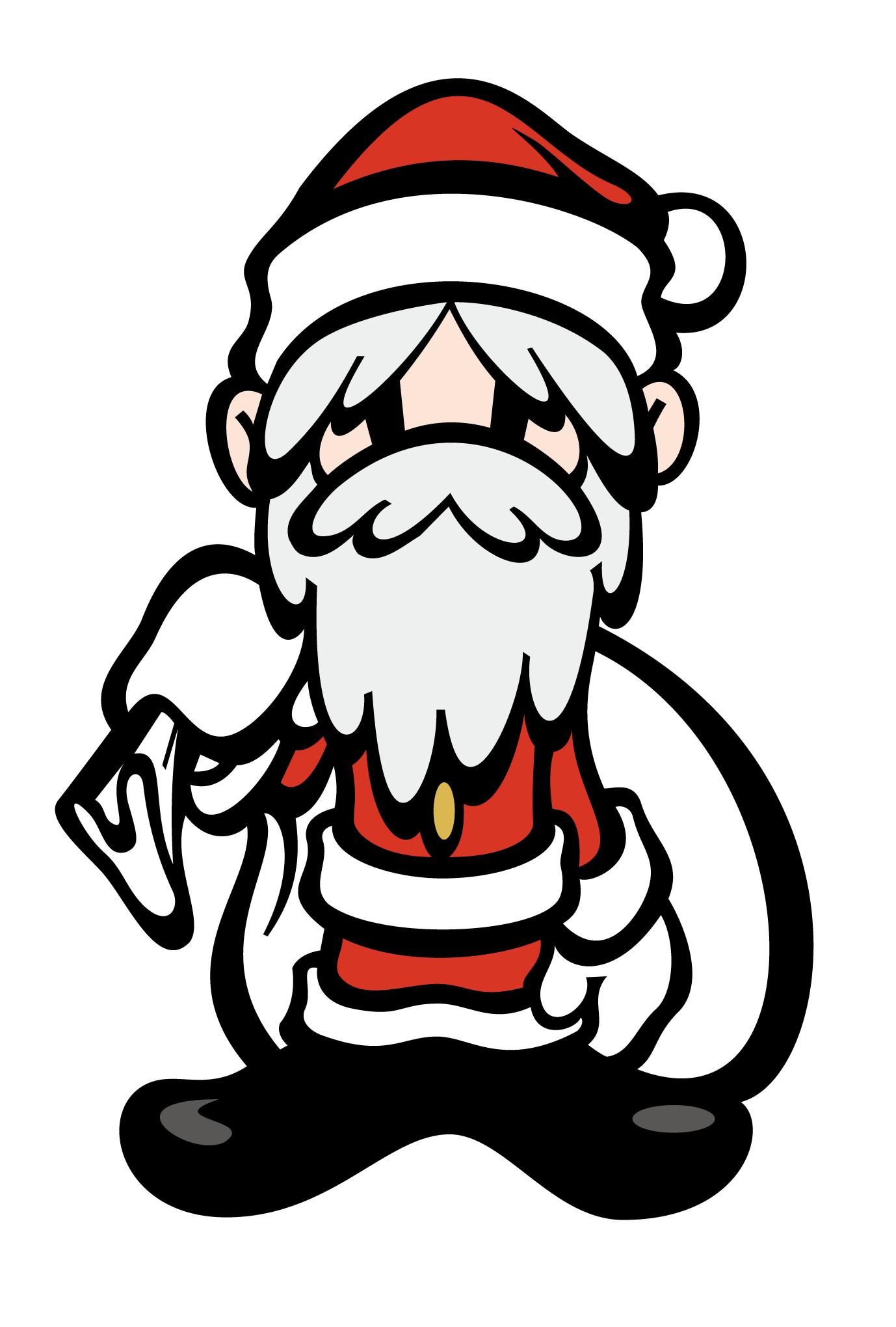 クリスマスカード08:少年サンタのダウンロード画像