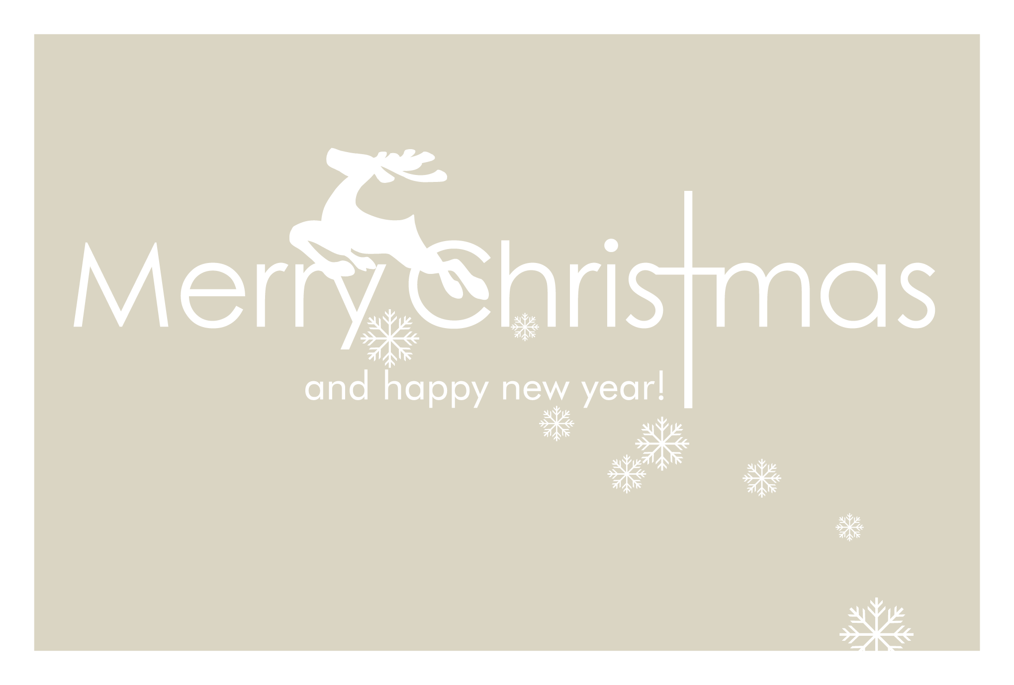 クリスマスカード12:Merry Christmas and Happy new yearのダウンロード画像