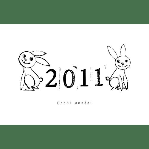 卯年2011年賀状のデザイン27