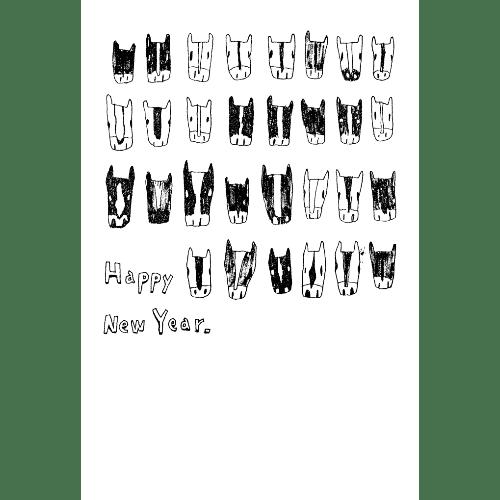 午年2014年賀状のデザイン15-4