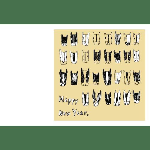 午年2014年賀状のデザイン16-1