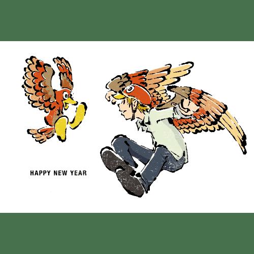 酉年2017年賀状のデザイン11-2
