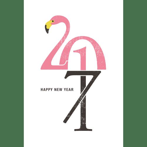 酉年2017年賀状のデザイン17-1