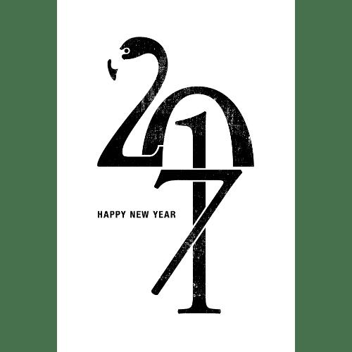 酉年2017年賀状のデザイン17-2