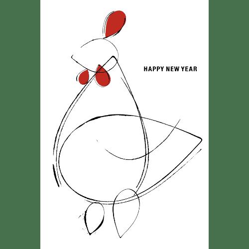 酉年2017年賀状のデザイン19-1