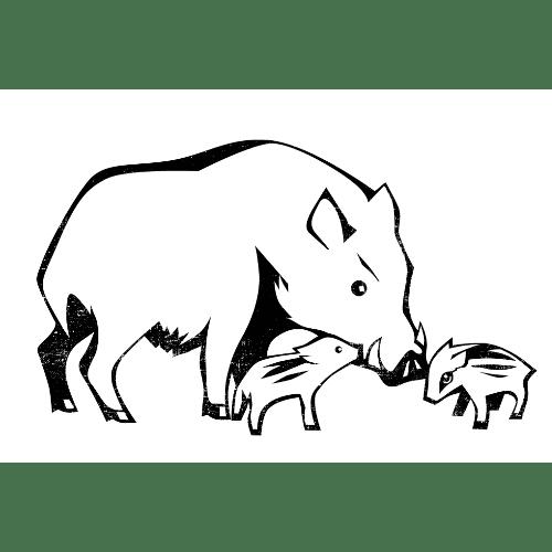 亥年2019年賀状のデザイン12-2