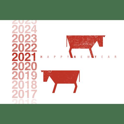 丑年2021年賀状のデザイン01-1