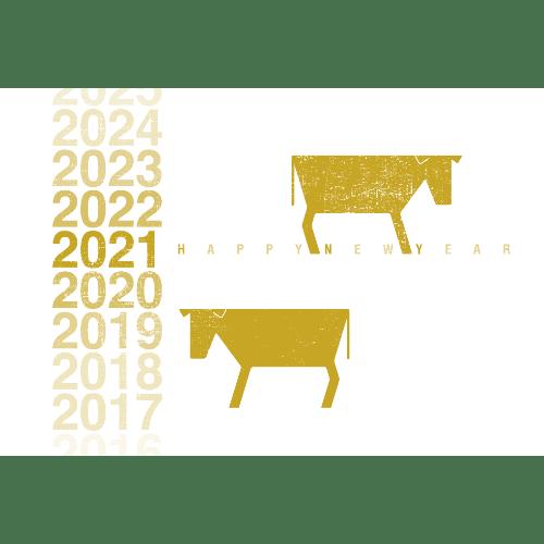 丑年2021年賀状のデザイン01-2