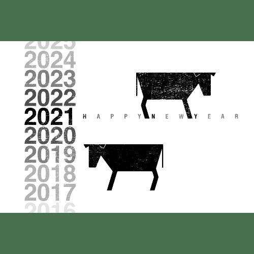 丑年2021年賀状のデザイン01-3