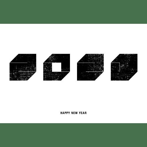 丑年2021年賀状のデザイン05-2
