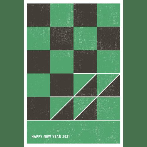 丑年2021年賀状のデザイン06-1