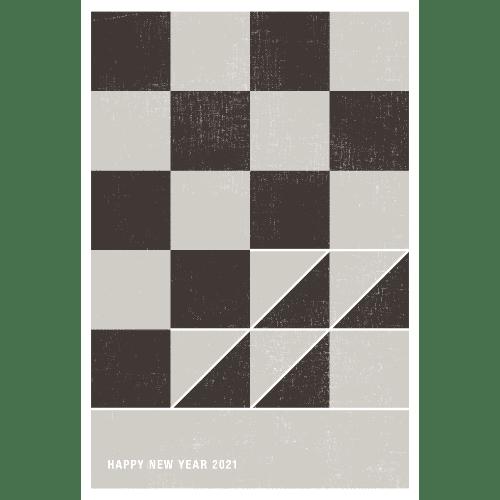 丑年2021年賀状のデザイン06-2