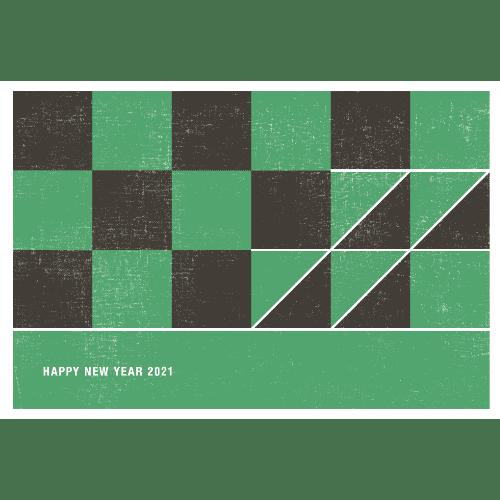 丑年2021年賀状のデザイン06-3