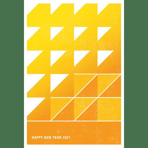 丑年2021年賀状のデザイン07-1