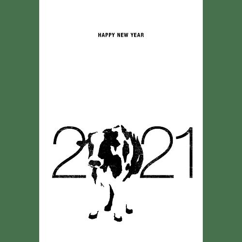 丑年2021年賀状のデザイン10-2