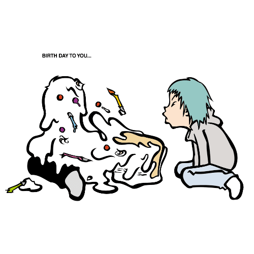 バースデーカードのイラストレーション05