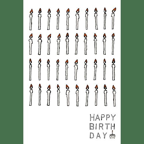 バースデーカードのイラストレーション09