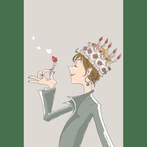 バースデーカードのイラストレーション11