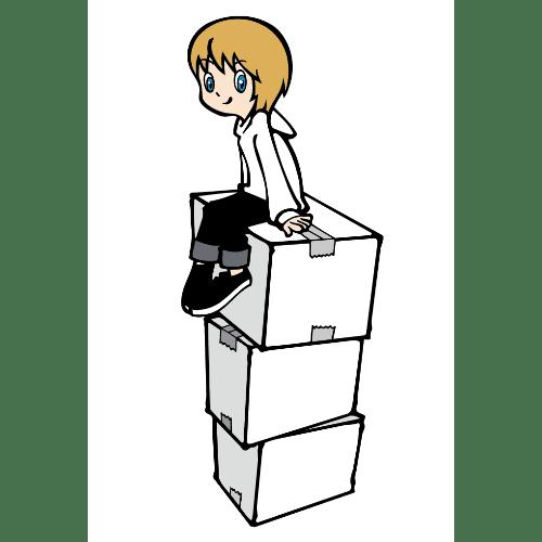 引っ越しのイラストレーション05