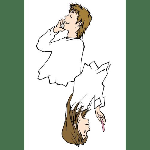 ポストカードのイラストレーション07