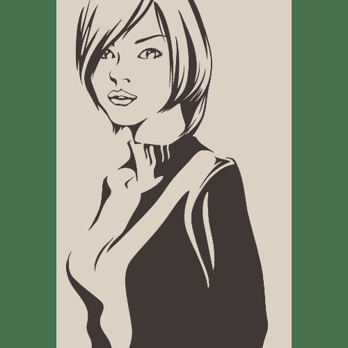 ポストカードのイラストレーション09