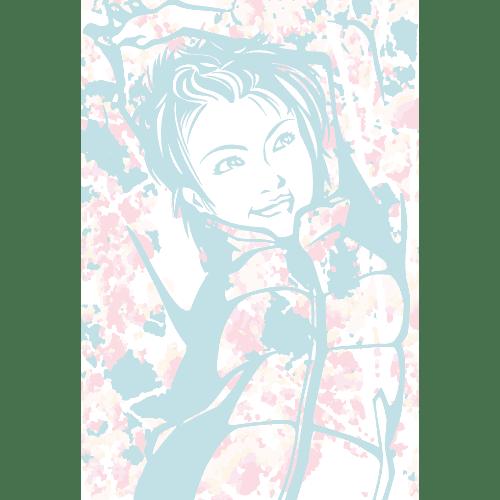 ポストカードのイラストレーション18