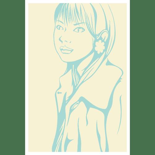 ポストカードのイラストレーション19