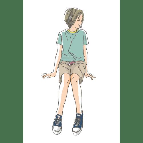 ポストカードのイラストレーション21