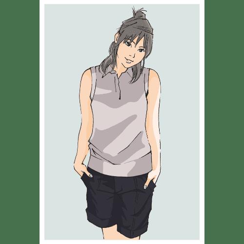 ポストカードのイラストレーション30-1