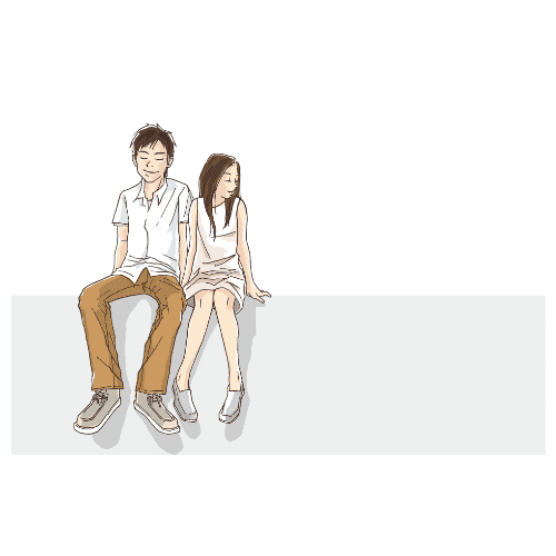 ポストカードのイラストレーション32